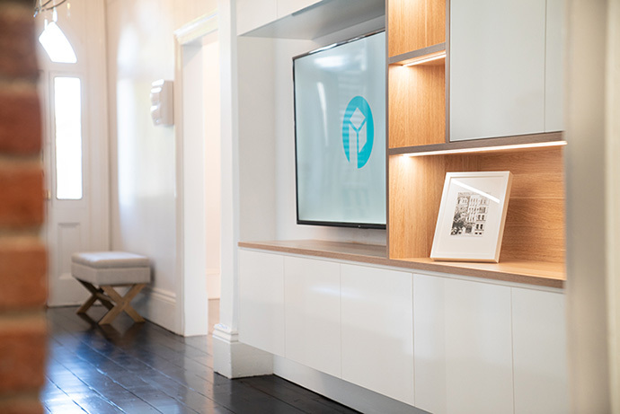 built in furniture entertainment unit